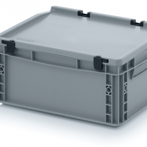Grey Totebox with folding lid