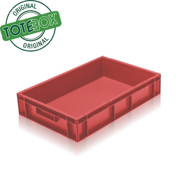 red tray box with handles
