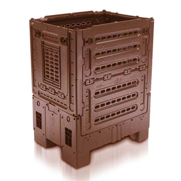 Large Folding Bulk Container, With Wheeled Castors, 357 Litre (800l x 600w x 1000h mm)