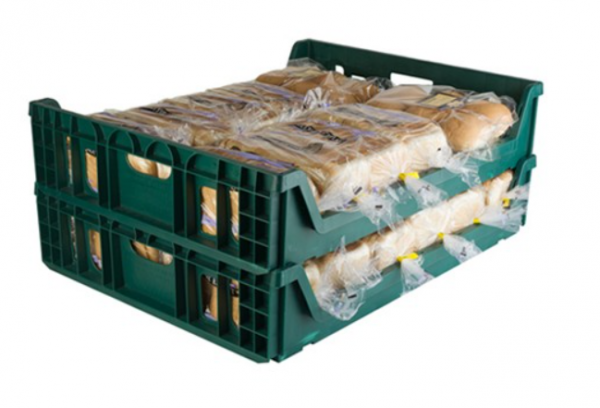 Green bread crate