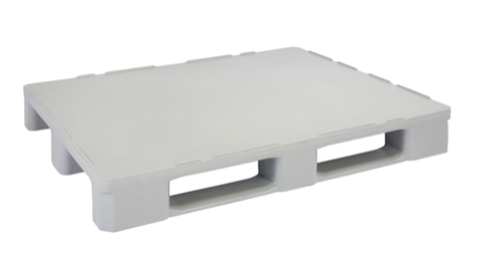 Hygienic Plastic Pallet Light Grey