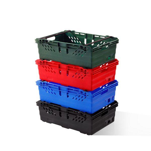 Stackable Plastic Crates multi-colour