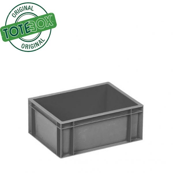 Grey box with handles medium
