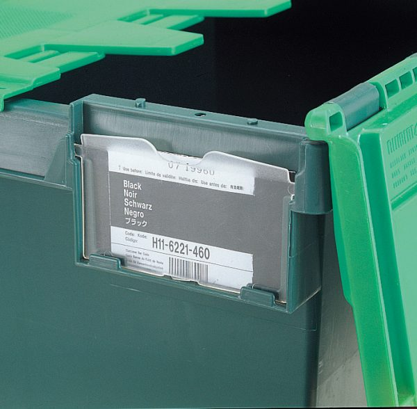 Label Holder For Tote Boxes