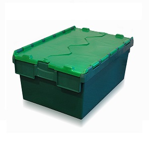 Heavy Duty Attached Lid Containers | Extra Strong Tote Boxes