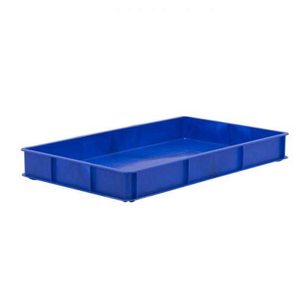 Solid plastic confectionery tray blue