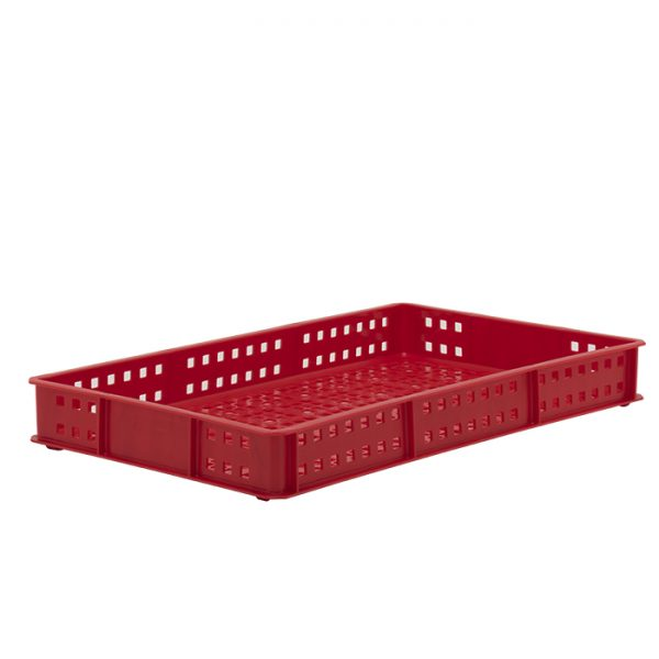 Ventilated Plastic confectionery tray red-2
