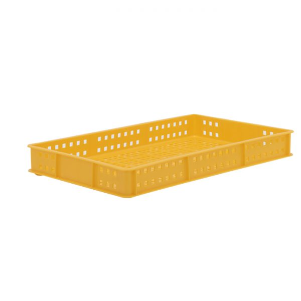 Ventilated Plastic confectionery tray yellow-2