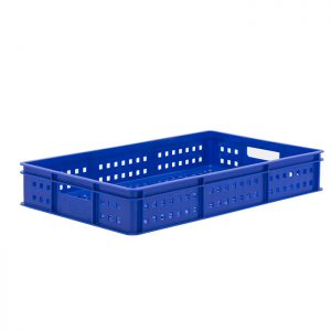 Ventilated confectionery tray blue