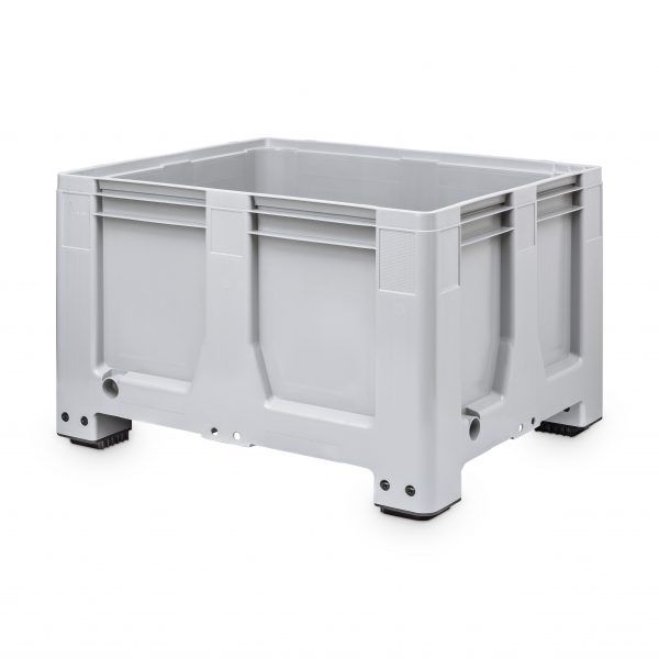 Solid Pallet Box, With Four Feet, 625 Litre (1200l x 1000w x 760h mm)