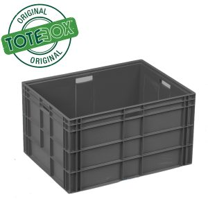 8644 -175L Euro Euro Stacking Box Black
