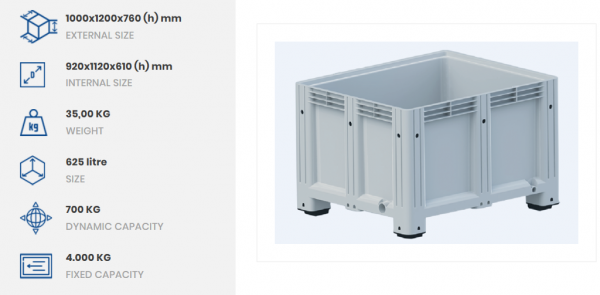 Solid Pallet Box Light Grey-2