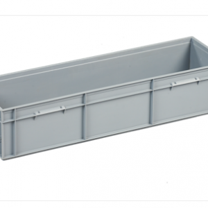 Long euro stacking container grey