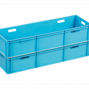 long euro stacking container in light blue