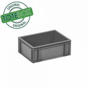 Medium Plastic Storage Box in Grey