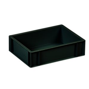 Totebox plastics euro container in black -image4