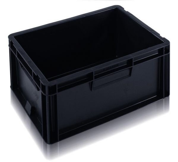 4322 - 20L EURO Black plastic box