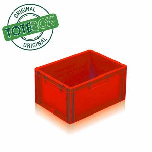 Large Plastic Storage Box in Red