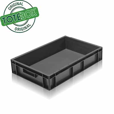 Plastic container in black