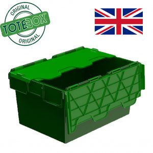 Attached Lid Plastic Containers | Quality Tote Boxes
