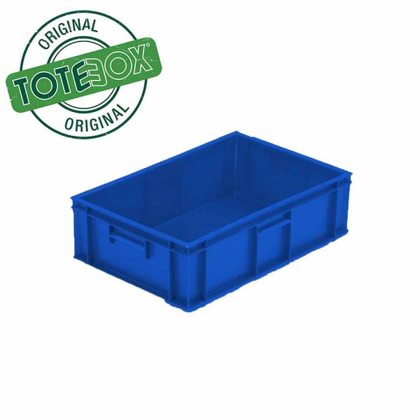 plastic container in blue