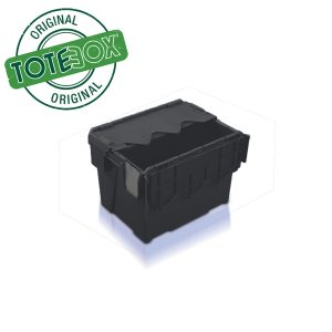 25L Attached Lid Container Black