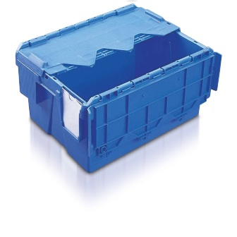 Blue extra strong plastic boxes with lid