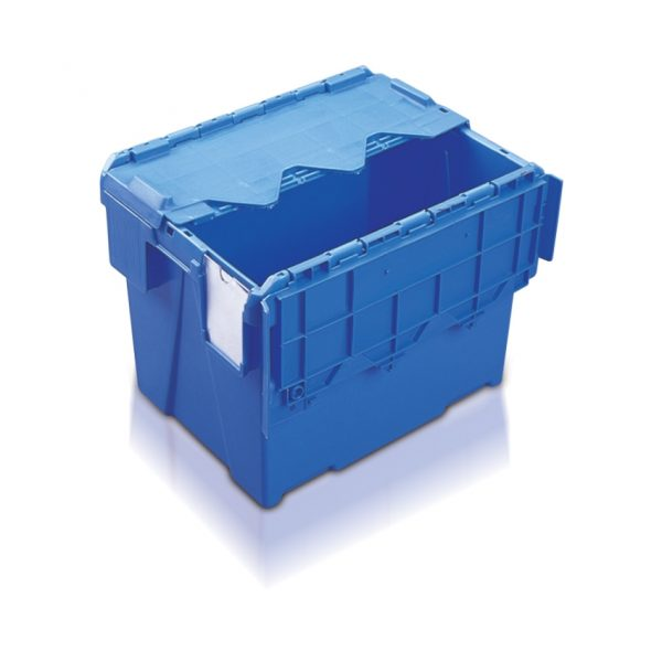 Plastic Storage Boxes with Lids in Blue