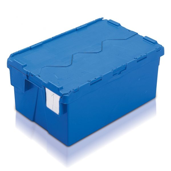 Blue strong plastic storage boxes with lid-AT642604