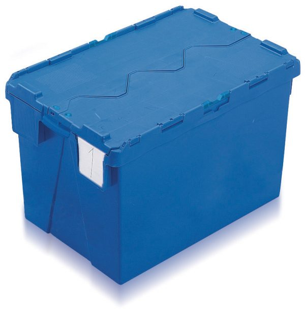 Large industrial plastic containers in blue-AT644004
