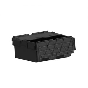 40L ORIG BLACK- Plastic storage container with lids