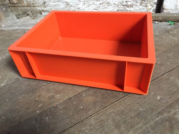 red medium sized box