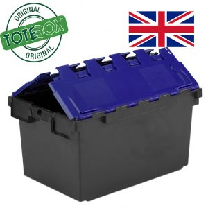 Totebox with blue lid