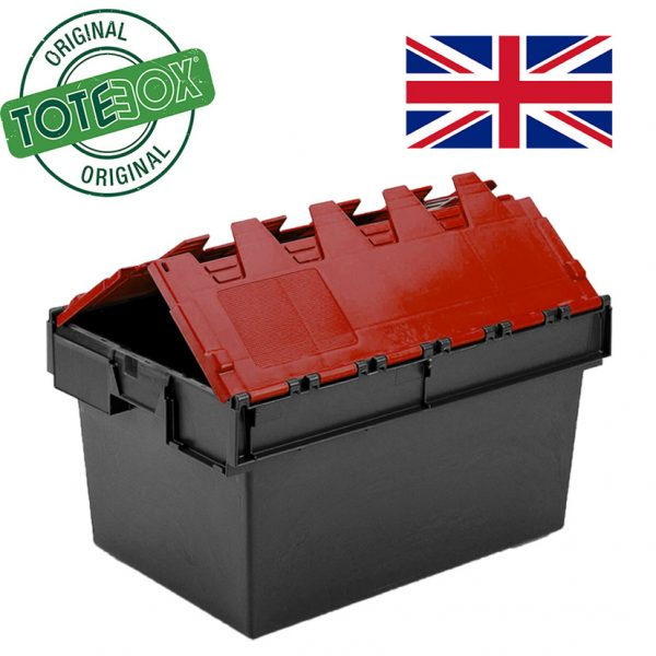 Totebox red lid folding