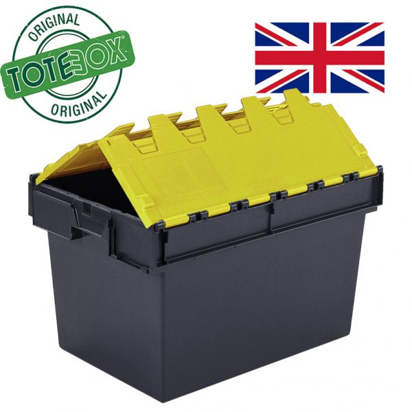 Totebox with yellow lid