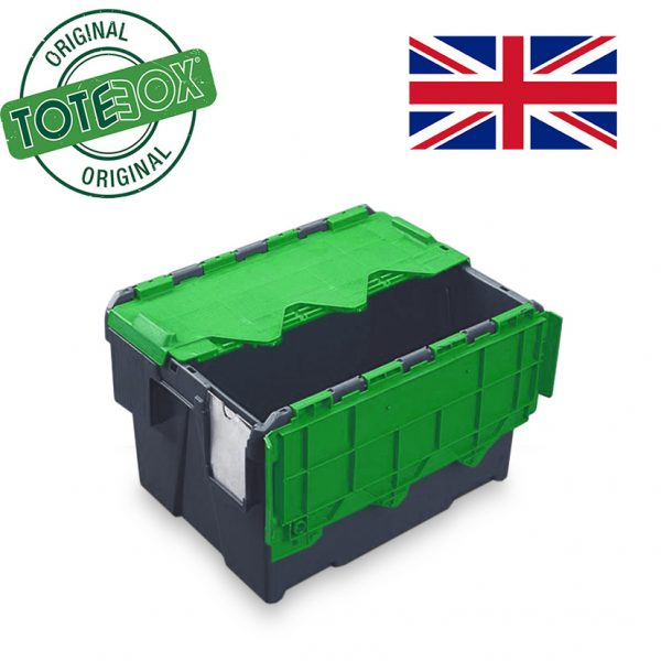 Totebox with green lid