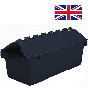 Large Attached Lid Containers | Stacking Tote Boxes